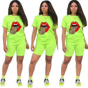Women Outfits 2 Two Piece Set Casual Short Sleeve Short Outfit Summer Hot Sale Plus Size Women Clothing
