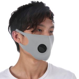 Yüz Toz geçirmez Vana Sünger Yıkanabilir Tekrar Kullanılabilir Karşıtı Toz Sis PM2.5 Koruyucu Maskeler ZZA1987 Maske Nefes Maske