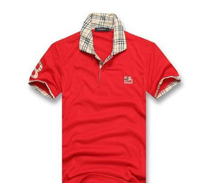 Горячая распродажа новинка мужская футболка лето короткая рубашка поло высокого качества известных дизайнеров бренда slim fit футболка мужчины