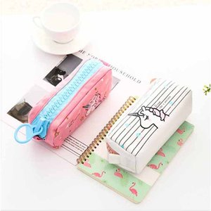 Children Hot Sale Wallet Unicorn Pencil Case Storage Cartoon Canvas High-capacity Lovely Big Zipper Students Creative