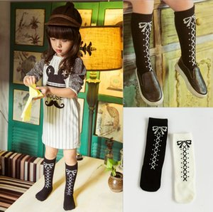 Newborn Baby Kids Baby Girls Stockings Bandage Bowknot Printed Tights Mid-calf Length Winter Warn Sets 0-6YY