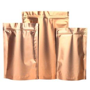 Papel de aluminio del paquete del alimento Bolsa Snack-Alimentos deshidratados en polvo paquete resellable soporte Oro Hasta Multi-tamaño del paquete de Alimentos Bolsas
