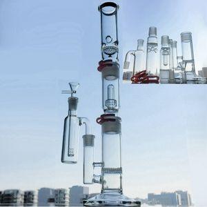 19 pouces de verre de hauteur avec cendrier de 18mm Catcher Bong Tube de Tube droite Bankhah 3 Chambers Heary Verre DAB Plateaux Tableau d'eau