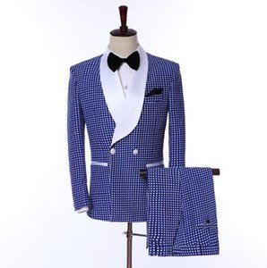 Real Image Wedding Tuxedos Shawl Lapel Wine One Button Groom Men Suits Wedding Prom Dinner Best Man Blazer(Jacket+Bow+Pants) Tailor Made