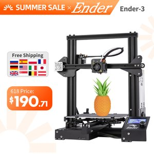 حار بيع اندر-3 DIY كيت 3D طابعة كبيرة الحجم اندر 3 / اندر-3X طابعة 3D استمرار طباعة الطاقة Creality 3D