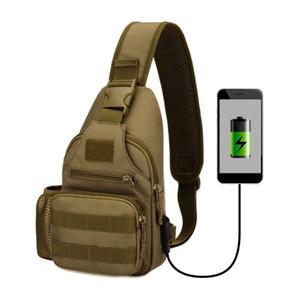 Uomini pacco petto singolo Borse a tracolla di ricarica USB Petto Borsello impermeabile Borse Maschile Anti-Theft Strap singolo