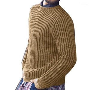 Hommes O Neck Pulls 20AW Outwear Tricoté hommes Designer Pull Casual manches longues couleur unie Homme Hauts Pull