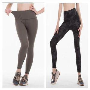 20 di yoga pantaloni di colore solido delle donne a vita alta di ginnastica di sport indossare leggings elastico fitness Lady complesso completa Collant Workout