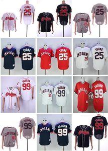 2019 Mens-Frauen-Jugend-Baseball-Shirts für Kinder nähte 25 Jim Thome 99 Ricky Vaughn 7 Kenny Lofton 24 Manny Ramirez Baseball Jersey