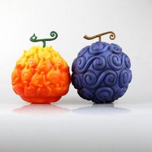 Çocukların ücretsiz kargo için yeni sıcak satış Şeytan Meyve One Piece Monkey D. Luffy Sakız-Sakız Meyve Portgas.D.Ace Mera-mera Meyve 17cm pvc hediye