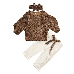 Kid Baby Girls Clothes Newborn Leopard Clothes Tops T-Shirt white Leggings Pants Outfits Set