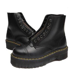Big tamanho 35-41 designer de zíper frontal dr Martin botas 8 buracos botas sapatos 1460 plataforma 5cm inverno mulheres tornozelo