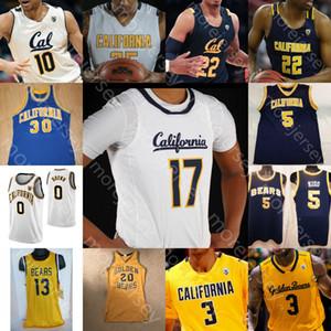 Benutzerdefinierte California Golden Bears Basketball Jersey NCAA Brown Kidd Bradley Austin South Anticevich Abdur-Rahim Johnson Anderson Crabbe