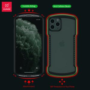 lüks tasarım Darbeye Kılıf iPhone 11 Pro Max Vaka Xundd Tampon Airbag Kapak Şeffaf Koruyucu Kılıf Ekran Koruyucu Cam Yeşil
