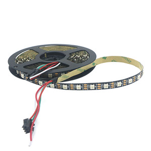 5M SMD 5050 60led m Full Color WS2812B LED Strip DC 5V Black PCB RGB Smart Pixel Control Led Strip 60IC m