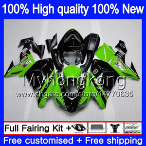 Carrocería para Kawasaki ZX 10 R ZX1000C ZX10R 2006 2007 215MY.17 verde negro ZX1000 C ZX10R 06 07 ZX ZX 10R 1000CC 06 07 ABS carenados