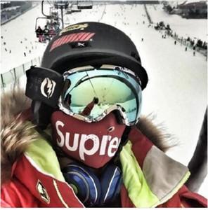 Logo Neopreme Facemask maske Yüz Maskesi açık binmek yüz maskeleri kayak yeni tasarım 2018