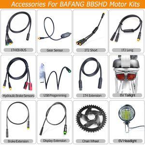 BAFANG de partes de motor de bicicletas luz de cambio de engranaje hidráulico de frenos Sensor Display USB cable de extensión velocidad freno Programación EB-BUS cable para BBSHD
