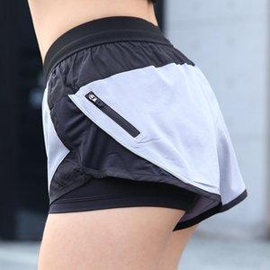 Spor Kısa Sıkıştırma Pantolon Kadınlar Koşu Spor Shorts Çalıştırmak için Fermuar ile Yeni Gevşek Kadın Yoga Şort