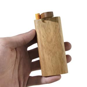 Naturel Handinade Bois de bois de bois avec Digger One Hitter Tuyau de tuyaux de verre Tuyaux de cigarettes Filtres de cigarettes Tuyaux de tabagisme Tuyaux de pipe à bois
