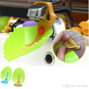 Crianças Faucet Extender design bonito folha Faucet Extender crianças Crianças Hand Wash Guia ferramenta Tap acessórios do banheiro