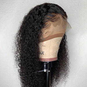 13x4Human Hair Wig Curly Lace Front Human Hair Wigs For Black Women Brazilian Remy Bleached Knots Pre Plucked With Baby Hair