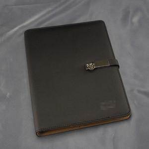 빈티지 레트로 남자 잠금 비즈니스 노트북 클래식 고급 디자인 회의 기록 휴대용 사무실 버클 하드 커버 노트북