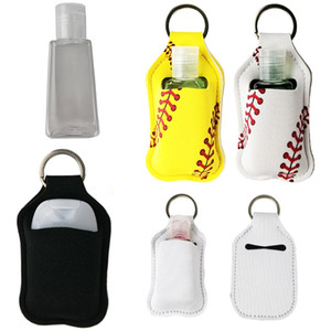 2020 Borse New White Blank Neoprene Hand Sanitizer Bottle Holder portachiavi 30ML 10 * 6cm Portachiavi a mano portasapone bottiglia