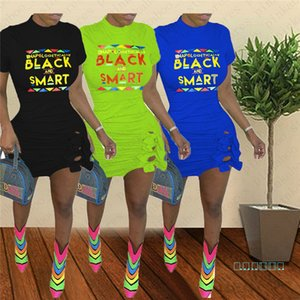 Lettres Smart Black Women Imprimer Robe manches courtes bowknot moulante Robes d'été sexy Bandage Mini jupe Tight Night Party Dress de D5604