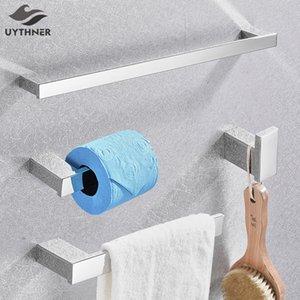 Bagno Hardware Set Chrome Gancio asciugamano portasciugamani cremagliera Tower Bar Mensola Tissue Paper Holder Bagno accessori di montaggio a parete