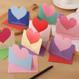 Cumprimento do feriado em forma de coração Cartão Cartão do amor cartões Cartão Confession of Love Confession do presente do Valentim