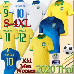Tailândia 20 21 Brasil jersey futebol NERES camiseta de futebol copa América Brasil G. JESUS MARCELO FIRMINO Coutinho VINICIUS uniforme de futebol