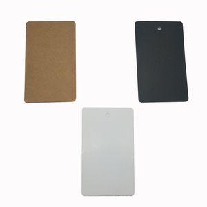 500pcs 5 4 * 2.8cm пустой картонных теги пакет ценники 3 цвета одежды упаковки Hangtags обувь Hangtag