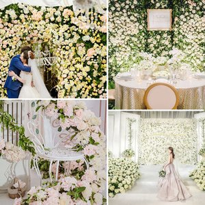 Artificial Hydrangea Flower Wall 40*60cm Christmas Decoration Photography Backdrop Romantic Wedding Decoration Flower Party Supply VT0502