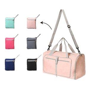 Bolsa de lona de gran capacidad de color sólido Bolsa de gimnasia plegable Bolsa de diseñador de lujo de torsión mm Equipaje portátil de viaje Bolsa de equipaje al aire libre
