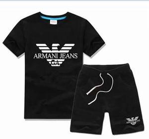 NEW Fashion Photos Brand Kids Sets Children T-shirt And Shorts Pants Kids Tracksuits Children Sport Suit 2Pcs Short Sleeve jacker bidf9sw