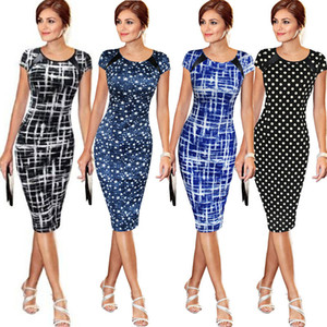 Elegante Frauen Office Business Work Party Mantel Tunika Bleistift Minikleid