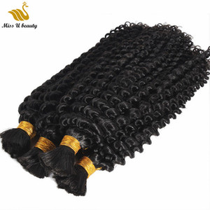 Braiding Hair in Bulk No Weft Human Hair Bundles Dyeable Natural Color Hair Extensions