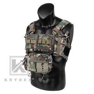 KRYDEX MK3 Tactical Chest Rig w / Magazintasche Mini Spiritus Airsoft Jagdweste Ranger militärische taktische Fördermaschine-Weste US UK