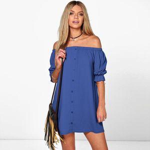 2019 Nouveau style élégant bretelles Une épaule un bouton Sexy Casual Vente chaude du commerce extérieur Robes d'été