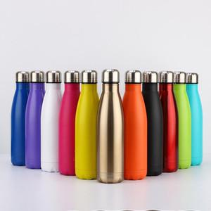 CA / USA / UK Free 17oz Cola Shaped бутылки Изолированный двустенных вакуума с высокой яркостью блеска тумблер колы воды бо