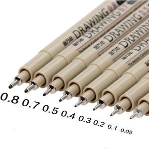 8шт / Lot высокого качества Ультра Fine Line Drawing Pen Sketch Маркер Рисование Ручки Горячие Продажа Другие Ручной инструмент