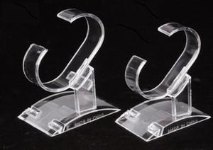 واضح من البلاستيك حزام سوار ووتش حامل حامل الدعم معرض للمجوهرات العرض مجاني 10pcs / lot شحن DS10