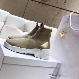 Para mujer de los zapatos atléticos de punto estilo de la cinta jacquard de algodón suave y cómodo cinturón transpirable, resistente suela de goma resistente al desgaste con la caja