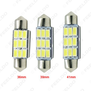 Großhandel 12VDC Auto Weiß 36mm / 39mm / 41mm 3Watt 240lm 6SMD 5630 LED Girlande Lichtkuppel Leselampe Birne # 4362