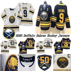 Buffalo Sabres Jersey 50.o 9 Jack Eichel (C) 26 Rasmus Dahlin 53 Jeff Skinner jerseys del hockey