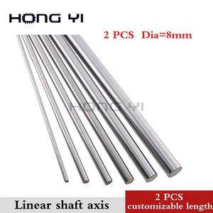 2шт линейный вал длинный диаметр d-8мм 100мм200мм 300мм - L 600мм упрочненный линейный стержень круглый вал хромированный