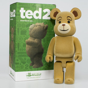 TOP Original box 28cm 400% Bearbrick Be@rbrick Ted2 Bear Art Figure doll PVC Collection model room Decoration kids child gift