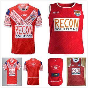 Чемпионат мира 2019 по футболу MATE Tonga Home Red Rugby Jersey Sevens Олимпийская футболка 19 20 Национальная лига PACIFIC TEST Футболки для регби Singlet S-XXXL