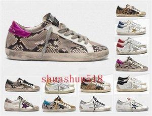 Мода Италия Goleden Old Style DB кроссовки из натуральной кожи ворсинок дермы Повседневная обувь Мужчины / Женщины Luxury Superstar Trainer Размер EUR35-45